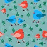 птицы делают по образцу безшовное Стоковая Фотография