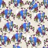 Птицы и цветки стоковое фото rf