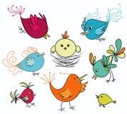 птицы милые иллюстрация штока