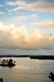 Птицы над водой в Рио Dulce Гватемале Стоковая Фотография