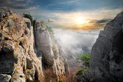 Птицы над долиной призраков Стоковые Фото