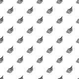 Птицы подгоняют с картиной пер, простым стилем Стоковые Изображения RF