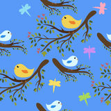 птицы предпосылки безшовные иллюстрация штока