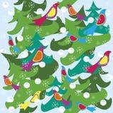 Птицы предпосылки зимнего отдыха бесплатная иллюстрация