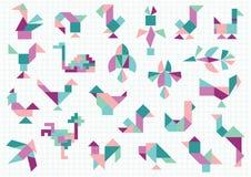 птицы различные иллюстрация вектора