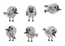 птицы смешные иллюстрация вектора