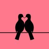 Птицы соединяют формировать сердце иллюстрация штока