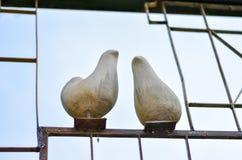 Птицы сделанные из цемента Стоковые Изображения RF