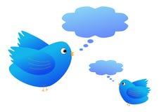 Птицы с пузырями речи иллюстрация штока