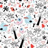 птицы текстурируют к валам иллюстрация штока