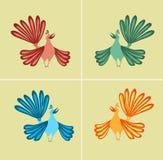 птицы цветастые стоковое фото rf