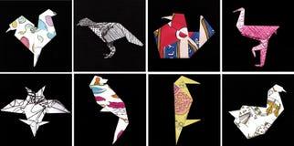 Птицы 2 Origami Стоковое Изображение RF