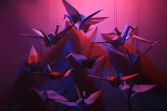 Птицы Origami Стоковая Фотография