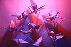 Птицы Origami Стоковое Изображение