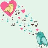 Птиц-в-влюбленность Стоковые Изображения