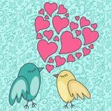 Птиц-в-влюбленность Стоковая Фотография