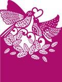 птиц иллюстрация Шаблон вырезывания лазера Стоковое Изображение