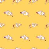 птиц картина безшовная Стоковая Фотография RF