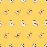 птиц картина безшовная Стоковые Изображения RF