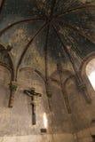 Пуатье, Франция - 12-ое сентября 2016: Внутри церков St Стоковое Фото