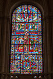 Пуатье, Франция - 12-ое сентября 2016: Старый собор chu Стоковая Фотография