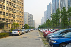 публика автостоянки стоковое изображение rf
