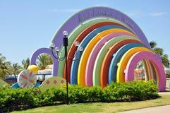 публика парка mundo maravilhoso da aracaju crian стоковое фото rf