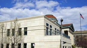 Публичная библиотека в Oshkosh Стоковое Изображение RF