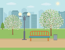публика парка города Стоковые Изображения RF