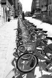 Публика Velib велосипед Париж Стоковые Изображения