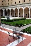 Публичная библиотека Бостона одна из самых больших муниципальных систем публичной библиотеки в Соединенных Штатах Стоковые Фото