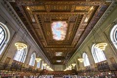 Публичная библиотека Нью-Йорка, США Стоковое Изображение RF