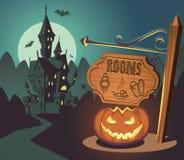 Пугающая гостиница хеллоуина Стоковая Фотография
