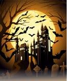 Пугающая ноча halloween Стоковые Изображения RF
