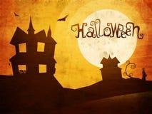 Пугающая предпосылка для партии хеллоуина Стоковое фото RF