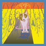 Пугающая собака Стоковая Фотография