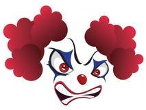 Пугающая сторона клоуна иллюстрация вектора