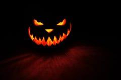 Пугающая тыква хеллоуин стоковые изображения