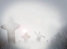 Пугающие могилы Стоковое Изображение RF