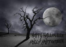 Пугающий ландшафт хеллоуин Стоковое фото RF