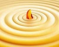 пудинг персика Стоковое фото RF