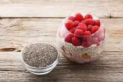 Пудинг Chia с ягодами Стоковая Фотография RF