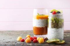 Пудинг Chia с ягодами Стоковое Изображение RF