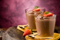 пудинг mousse шоколада Стоковое Фото