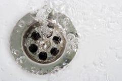 пузырей вода мытья вне Стоковые Изображения