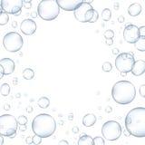 Пузыри белой воды с иллюстрацией вектора отражения установленной Стоковая Фотография