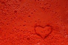 Пузыри взрыва печатей штемпеля сердца Стоковое Изображение RF