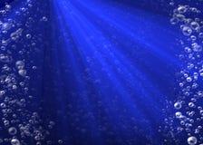 Пузыри воды идя вверх Стоковое фото RF