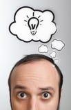 пузыри возглавляют его человека над речью Стоковое Изображение RF