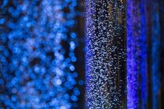 Пузыри воды как предпосылка конспекта нерезкости Стоковое Фото